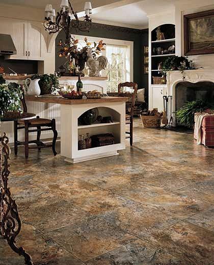 Linoleum that looks like rocks vinyl products flooring for Family room carpet ideas