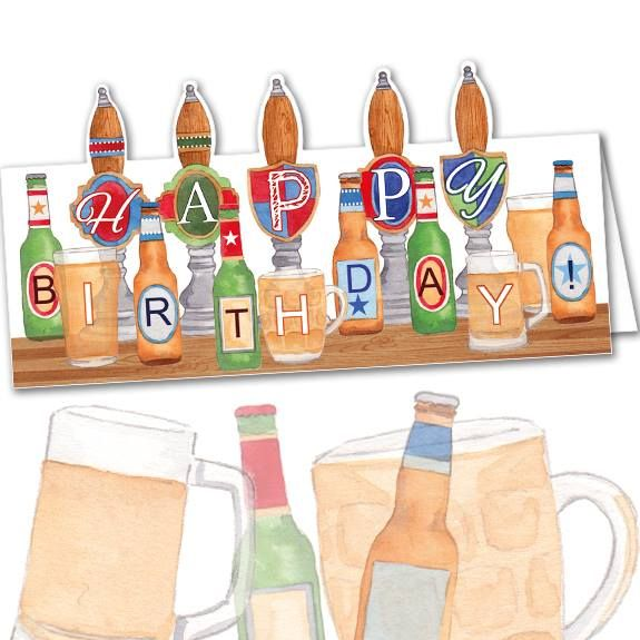 DC70 Birthday Beer Pumps. Phoenix Trading birthday card. £1.75 or save 20% when you buy 10 cards of any design.