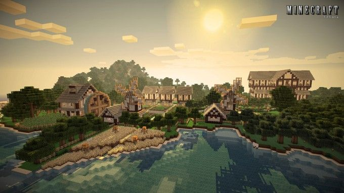 minecraft hd wallpaper beach farm