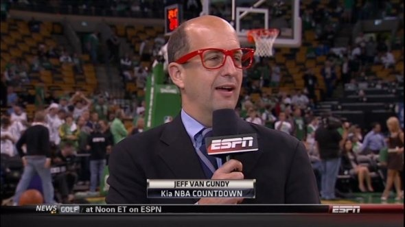 Jeff Van Gundy broke out the NBA hipster glasses prior to game 6