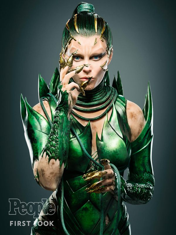 Huge departure from her original look. Looking forward to seeing how this plays out    First Look: Elizabeth Banks Morphs into Mighty Power Rangers Villain Rita Repulsa for Big-Screen Reboot