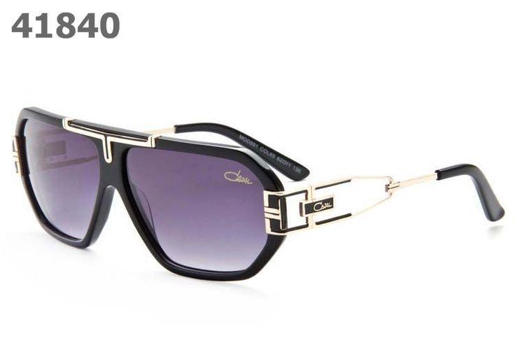 Cazal Unisex Retro Sunglasses 881 black frame purple lens