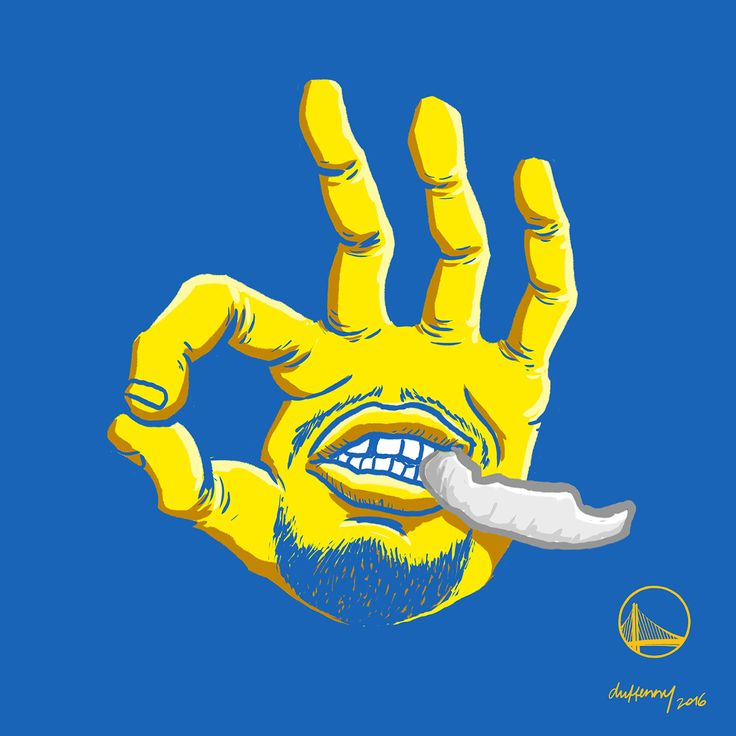 Stephen Curry Three Hand Illustration