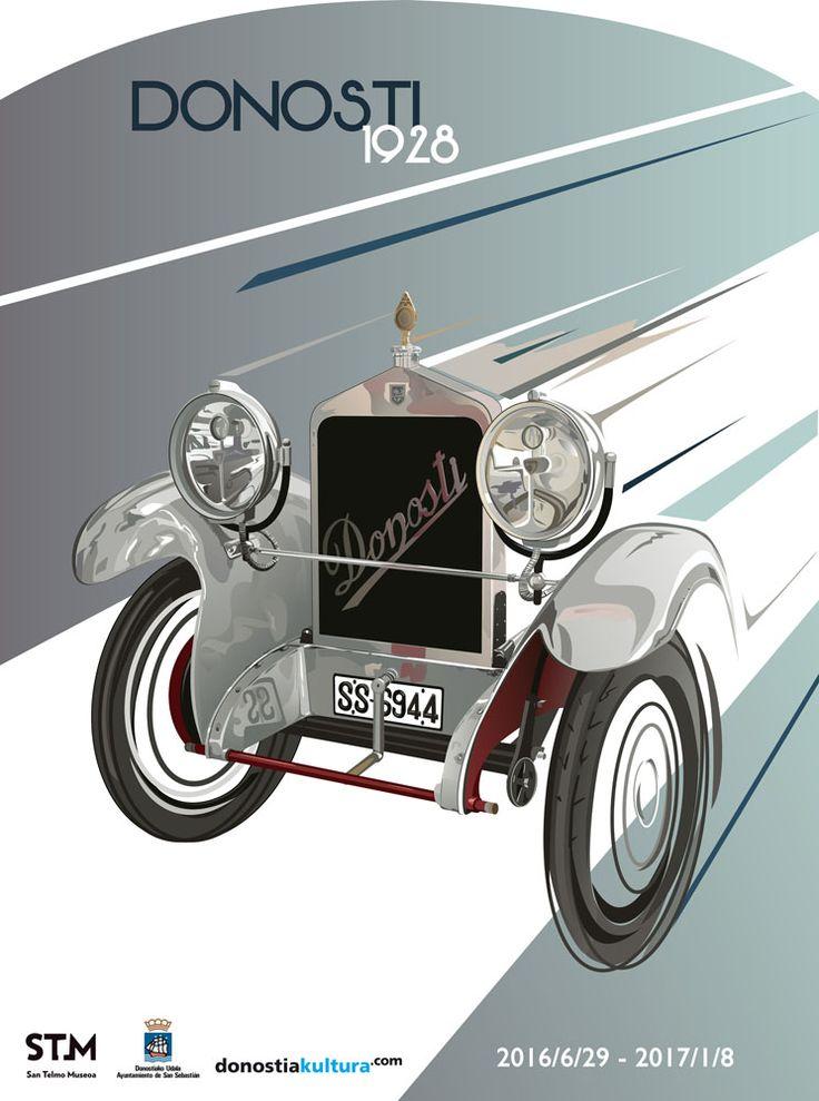 Exposición: Donosti 1928. Ilustración y diseño del cartel.