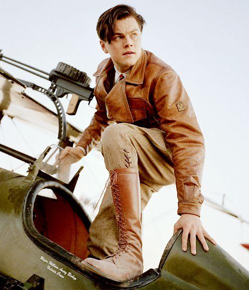 the aviator pilot uniform leather vintage