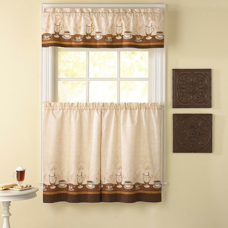 Have To Have It. CHF Industries Cafe Au Lait 36 In. Kitchen Curtain Set