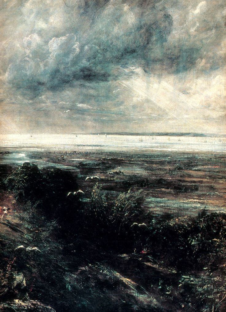 Artist John Constable was born #onthisday in 1776. Hadleigh Castle. 1828.