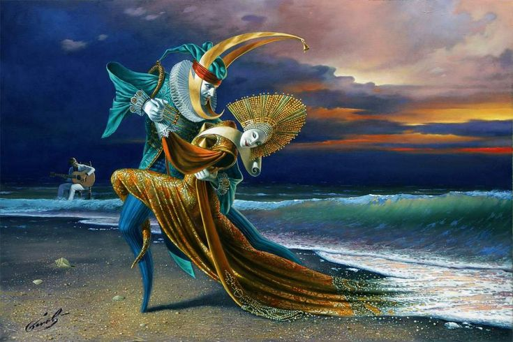 Michael Cheval© - Sunset Tango