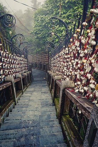 Would be magical to walk down these stairs.   Located in Taiwan