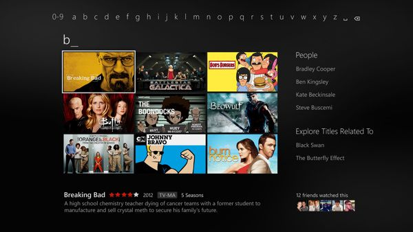 Netflix on Xbox One by Trevor Cleveland, via Behance