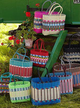 Fairtrade Woven Plastic Baskets