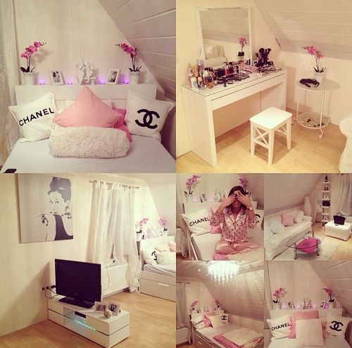 Imagem de bedroom chanel and girly home pinterest for Girly bedroom decor