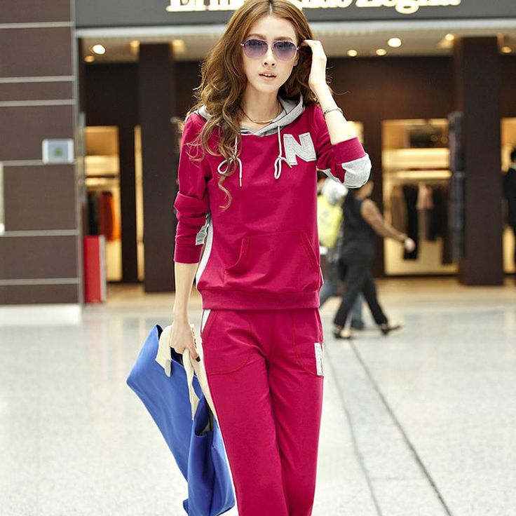 2013 autumn new Korean version of casual women's sportswear suit