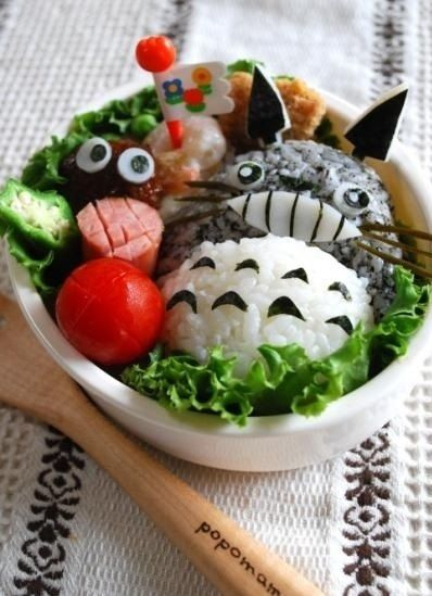 Totoro Bento | Community Post: 25 Adorable Bento Boxes You Wish Your Mom Made