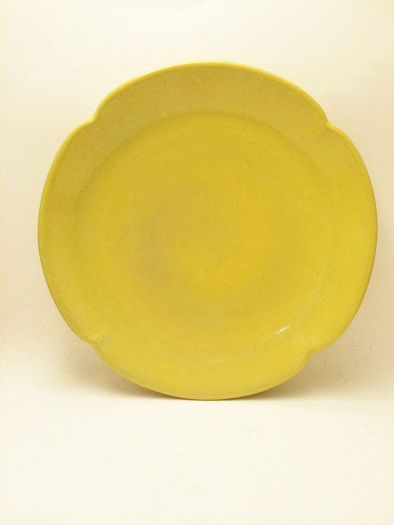 Frankoma Sunflower Yellow Dinner Plate Frankoma 5F by Comforte