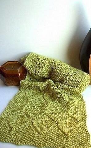 Красивый узор для шарфа