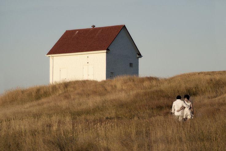 saturna island wedding couple fog alarm building www.nancyangermeyer.com