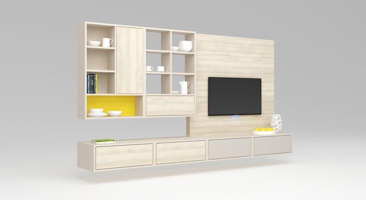 Vyladěný obývací pokoj   Už řadu let jsou trendem jednodušší sestavy obývacích stěn, které zbytečně nezahlcují prostor. Pokud jsou ve společném prostoru s kuchyní, často jsou laděny do jednoho stylu (modelu) i provedení. V nabídce máme řadu nápadů pro obývací sestavy i policové systémy.