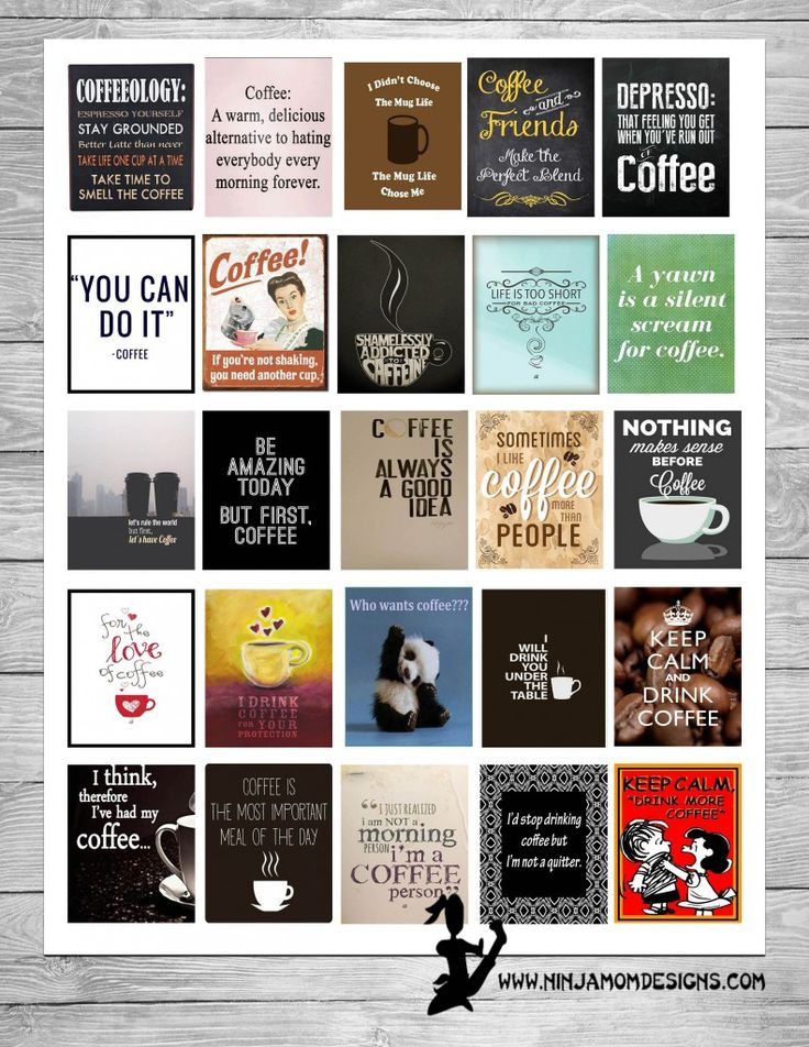 {FREE} For the Love of Coffee Planner Sticker Printable