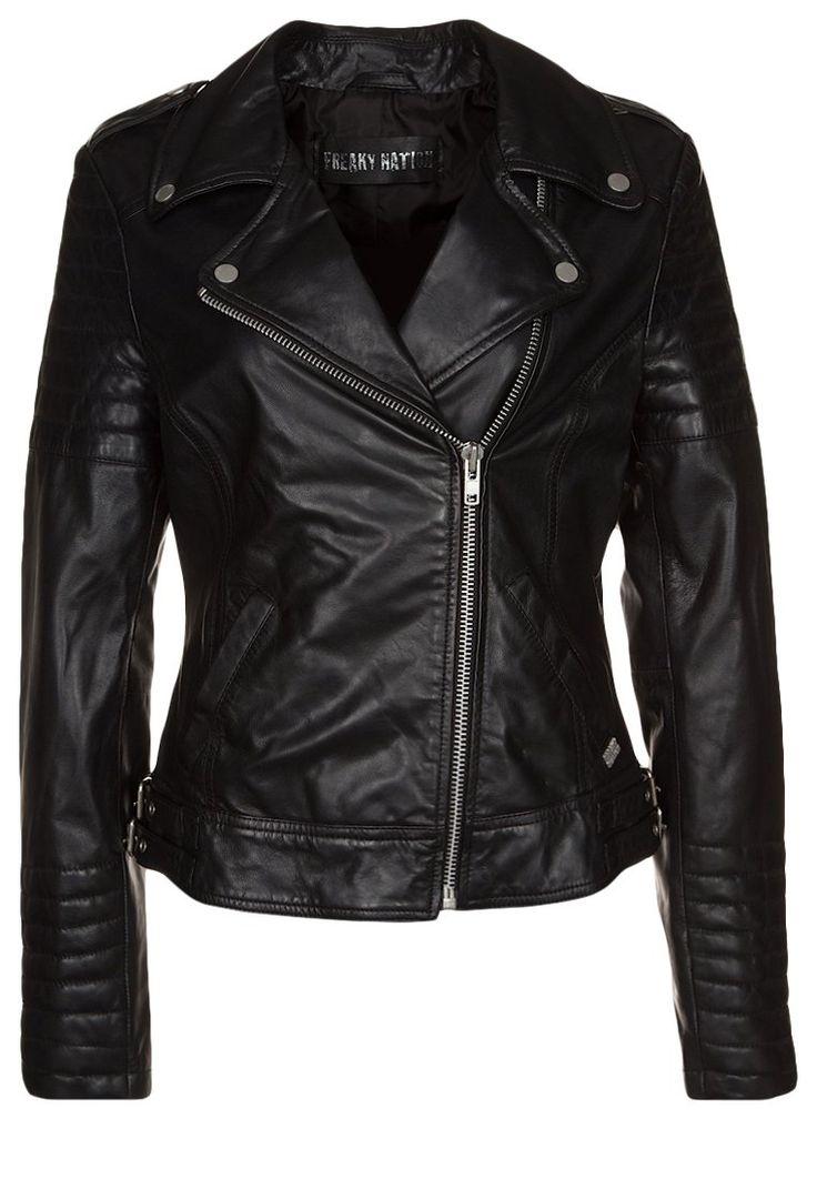 Freaky Nation PASSENGER Leather jacket black