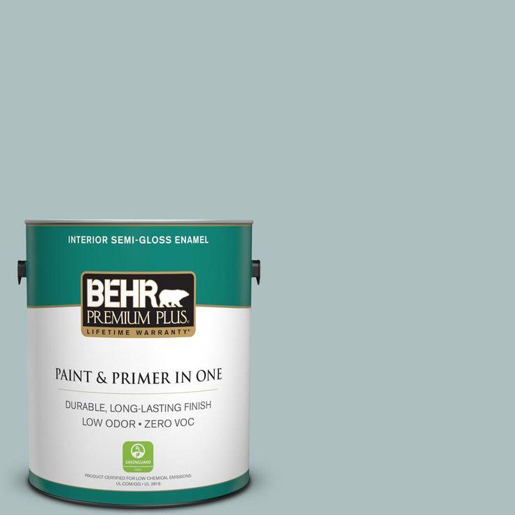 BEHR Premium Plus 1-gal. #N440-3 Greenwich Village Semi-Gloss Enamel Interior Paint