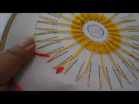 puntada fantasia flor de sol 2 - YouTube