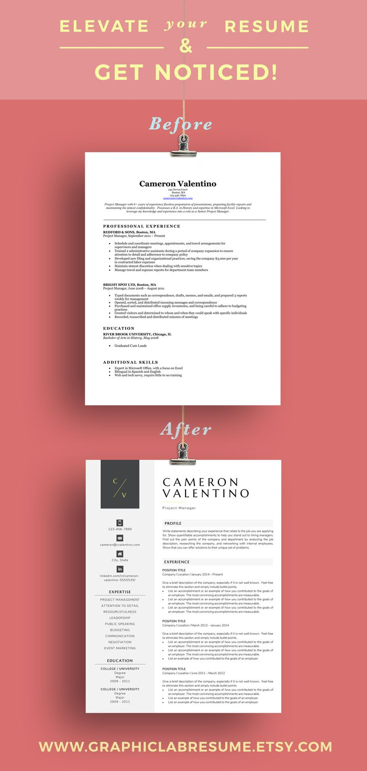 Make a memorable first impression with a modern resume