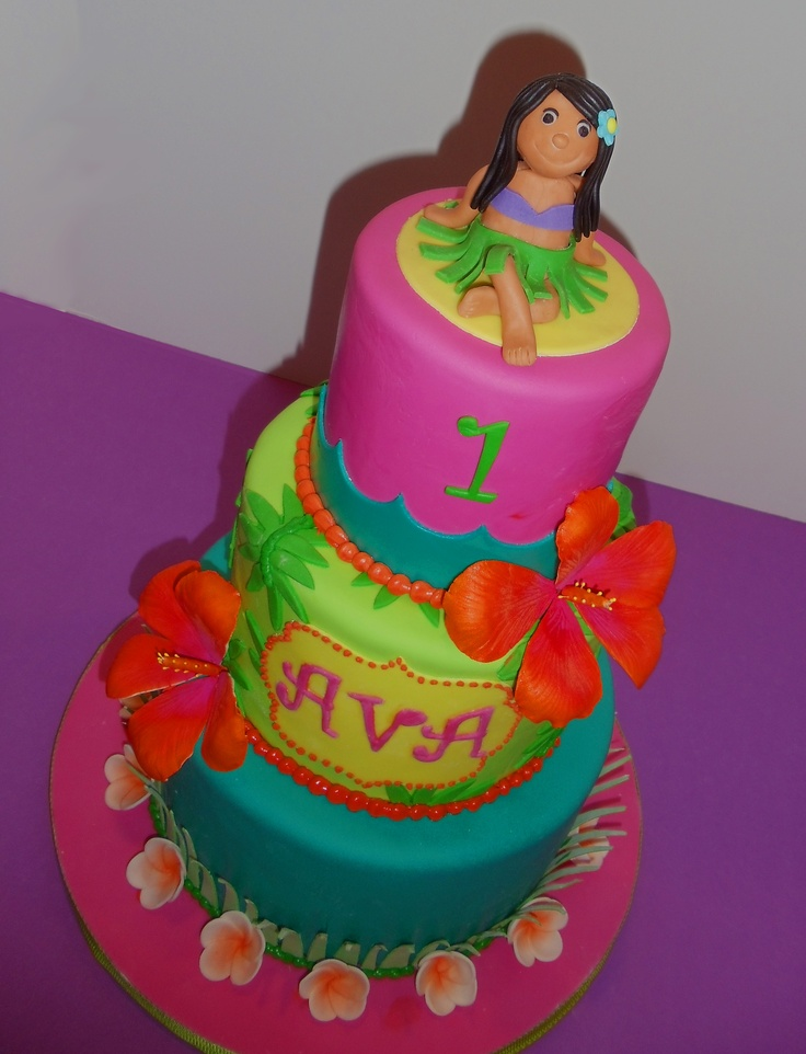Tropical Hawaiian Hula Girl Cake  by Joy's Cake Studio