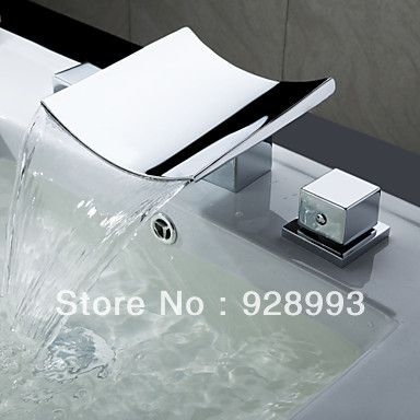 Aliexpress.com : Buy Freeshipping Waterfall Widespread Contemporary  Bathroom Sink Faucet From Reliable Bathroom Sink