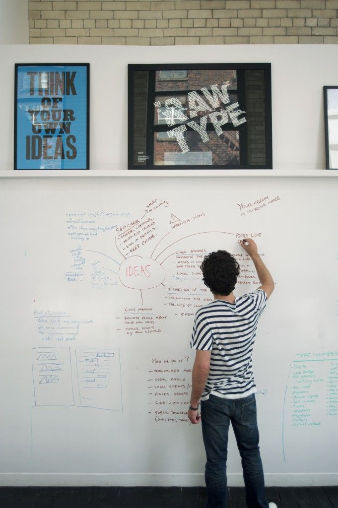 would love to have a 'white board' wall in my office..