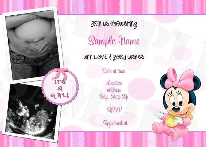 baby minnie mouse baby shower decorations      cmartistry, Baby shower invitations
