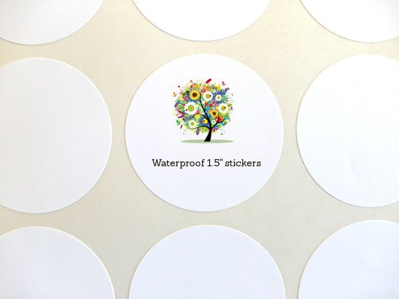 Waterproof Labels Circle Label 1.5 Round Label Set by chickydoddle