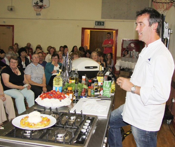 Celebrity chef Kevin Dundon hosts cookery demonstration 'Supper by the Sea' at Ardmore Pattern Festival, Co. Waterford. #supervalu
