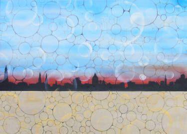 "Saatchi Art Artist Guido Pierandrei; Painting, ""serie GOVERNMENTOFLOVE-Skyline"" #art"