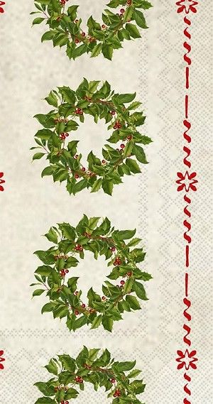 Holly Wreath Guest Towels 192 ct Christmas in 2018 Christmas
