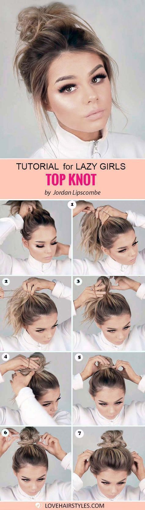 Makeup & Hair Ideas: Easy hairstyles for medium hair exist – lazy ladies, it is time to rejoice! Ha…