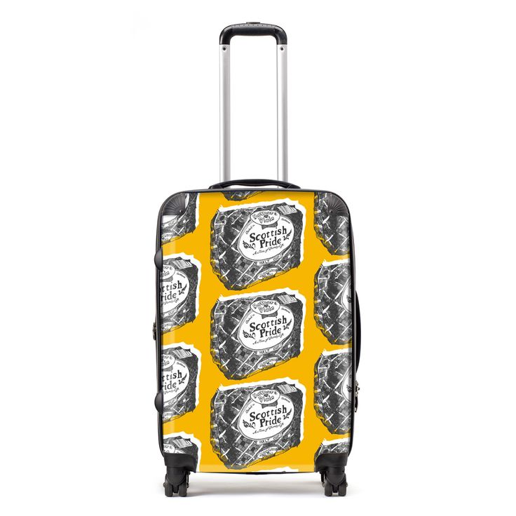 Stand out from the crowd and show your love for Scotland, wherever you are in the world! This fabulous Gillian Kyle suitcase comes in a variety of size options and is adorned with Gillian's well loved Mothers pride loaf.