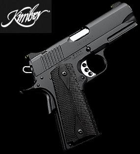 Kimber 45. My boyfriends new gun and lemme tell ya, I FREAKIN LOVE IT!