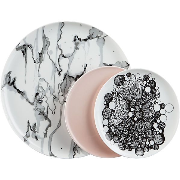 Wedding Registry: Need to convince the other half that I need this marble-ized dinner plates