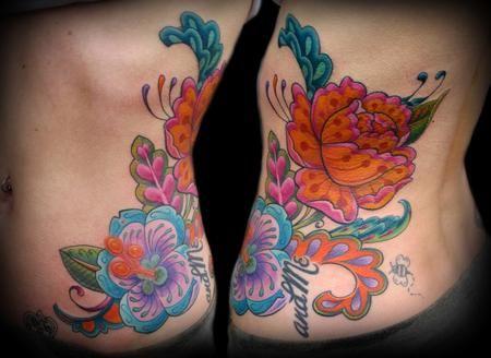 Paisley flower tattoo by Tim Senecal of Easthampton, MA