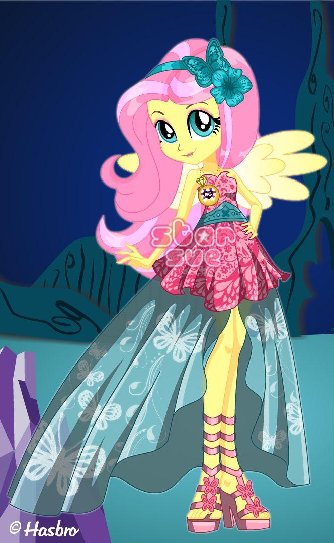 MLPEG Legend of Everfree Crystal Gala Fluttershy Dress Up ...