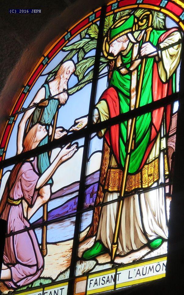 St Yves faisant l'aumône, église de Penvénan (22)