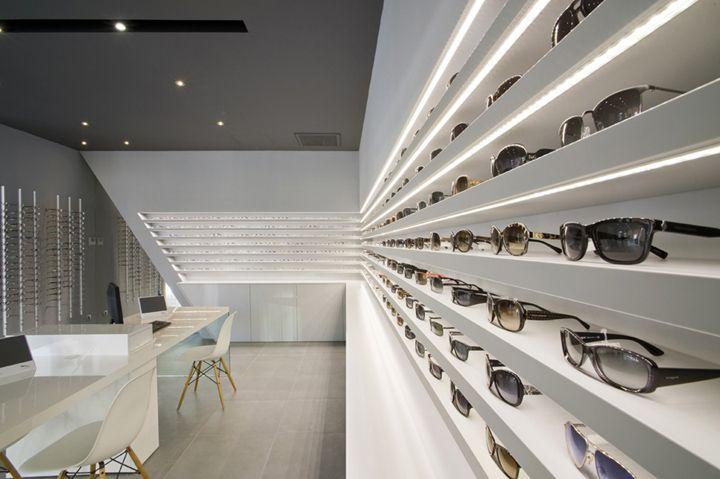 Optique Ampere optical shop by Cyrille Druart, Grenoble France store design