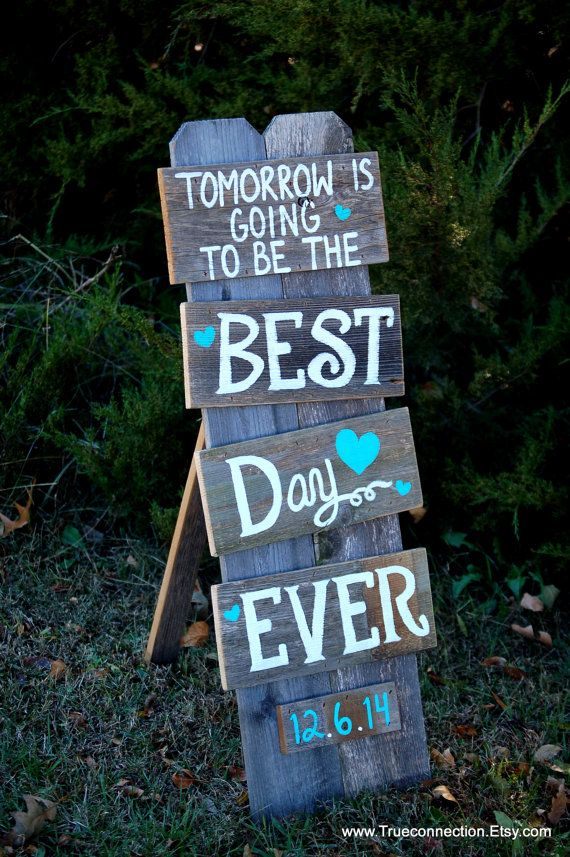 Rustic Wedding Rehearsal Dinner Signs by TRUECONNECTION on Etsy