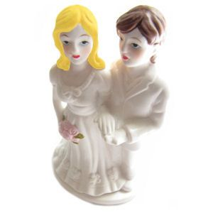 Two Brides Lesbian Marriage Wedding Cake Topper - (Can be Custom Painted) - Lesbian Merchandise Gay Pride Products $16.39