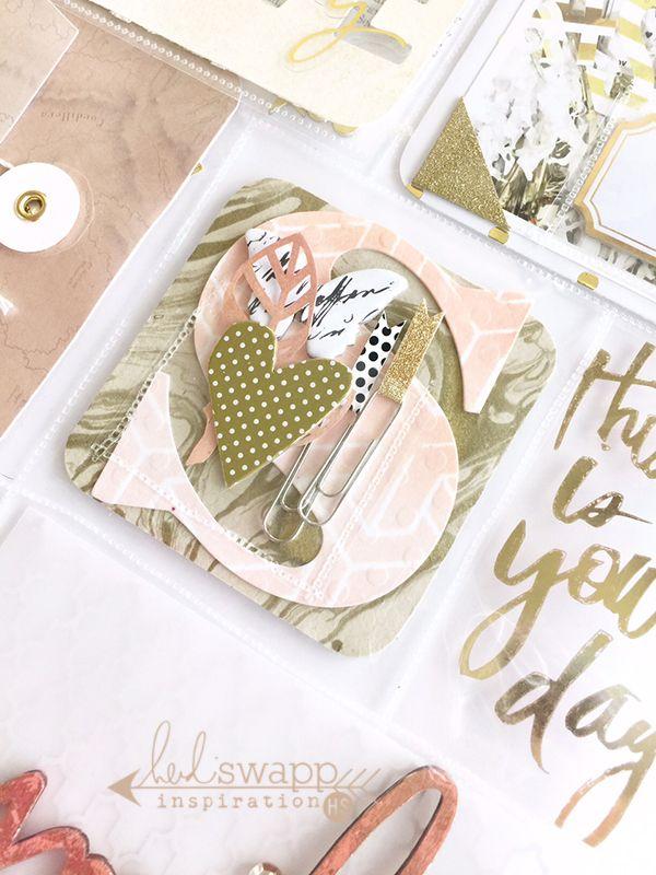 Lovely Custom Pockets made with the @wermemorykeepers #photosleevefuse tool by @heidiswapp designer @janettelaneblog