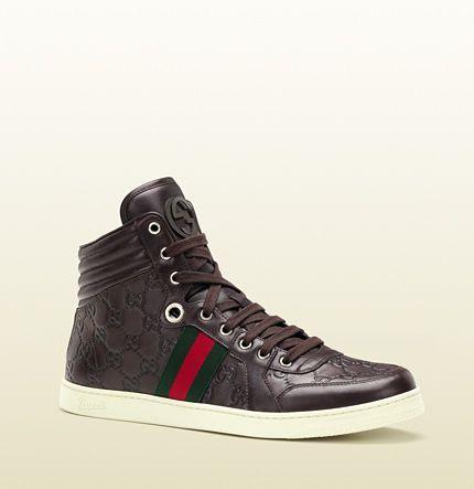 Gucci - basket montante à lacet avec G entremêlés et bande. 221825A9L902060