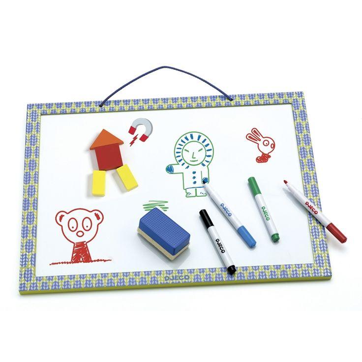 Letörölhető rajz- és mágnestábla (Djeco) | Pandatanoda.hu Játék webáruház