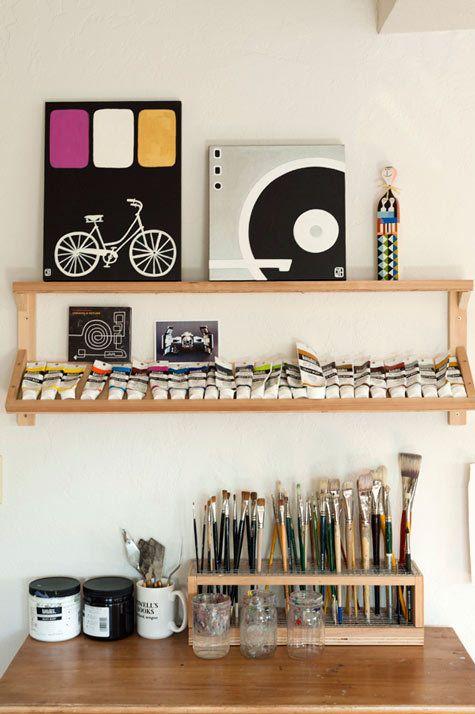 Organized art supplies #studio
