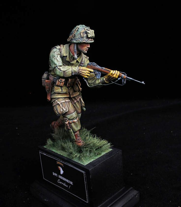 "American 101st airborne division ""Screaming Eagles"" toy soldier."